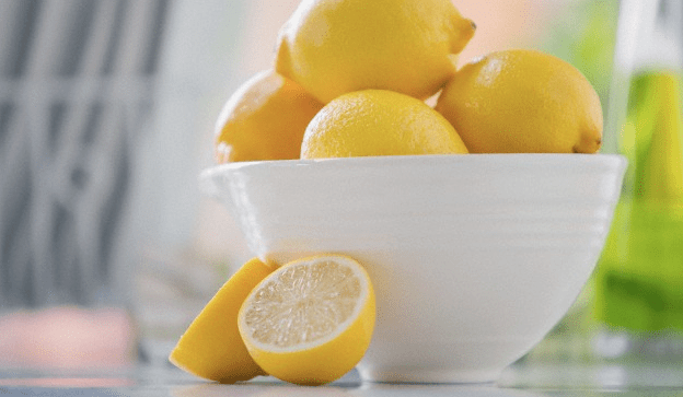 Lemons in a white bowl