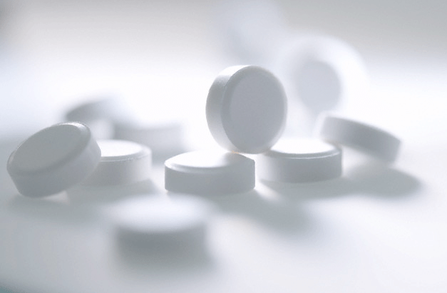 A pile of small white pills