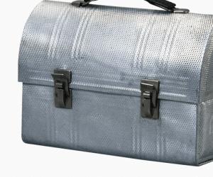 A metal lunchbox
