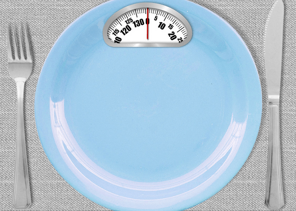 A plate with a scale on it