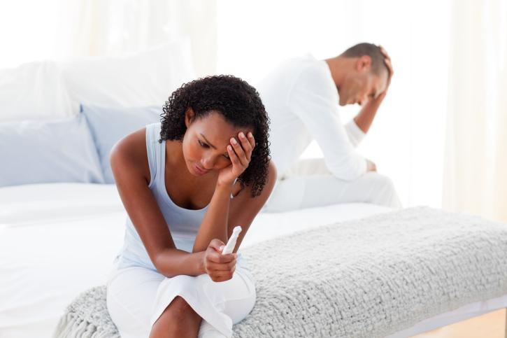 couple upset pregnancy