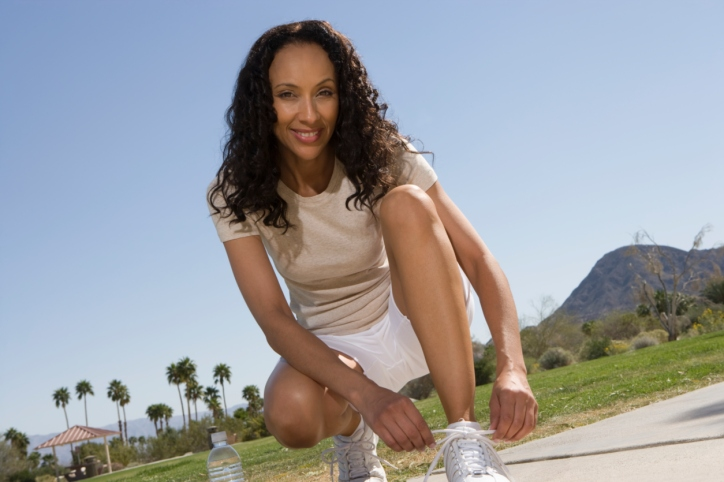 woman gym shoes