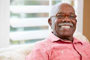 smiling older african american man