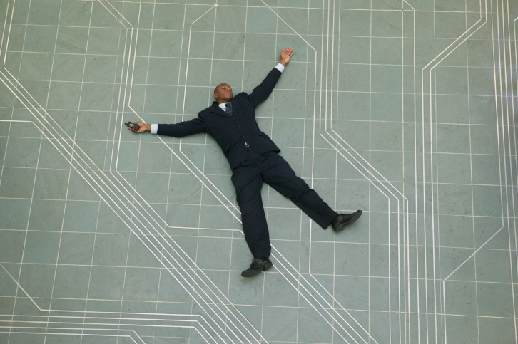 Man collapsed