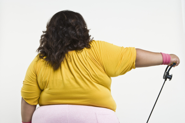 back overweight woman