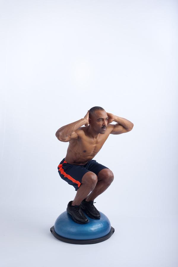 bosu squat 2