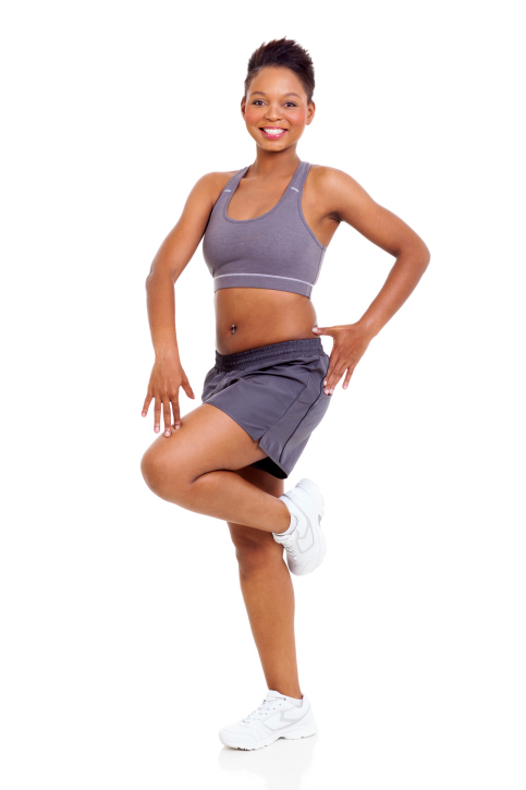 woman standing exercise