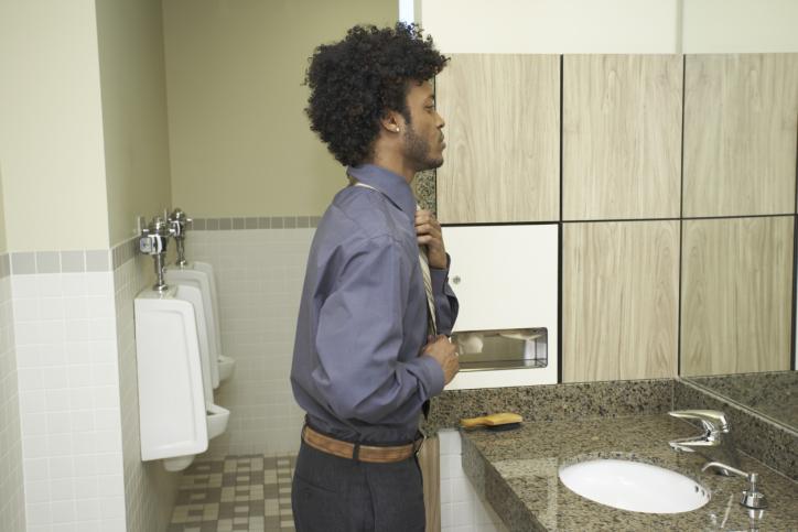 man in bathroom