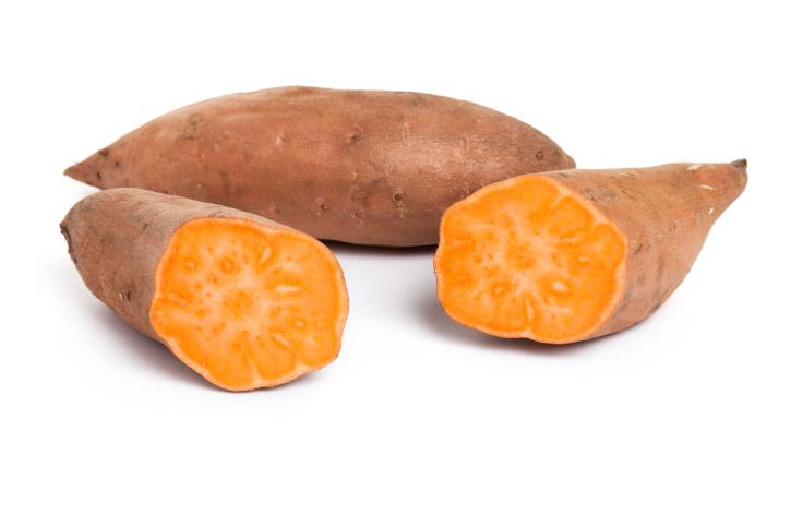 sweet potatoes cut