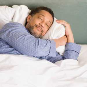 older man sleeping