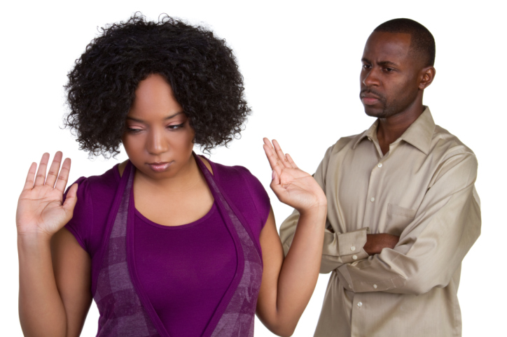 angry couple