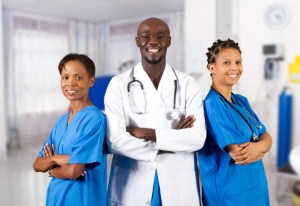 african american doctor and nurse