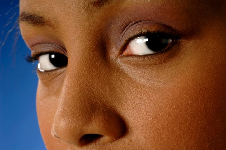 woman nose close up