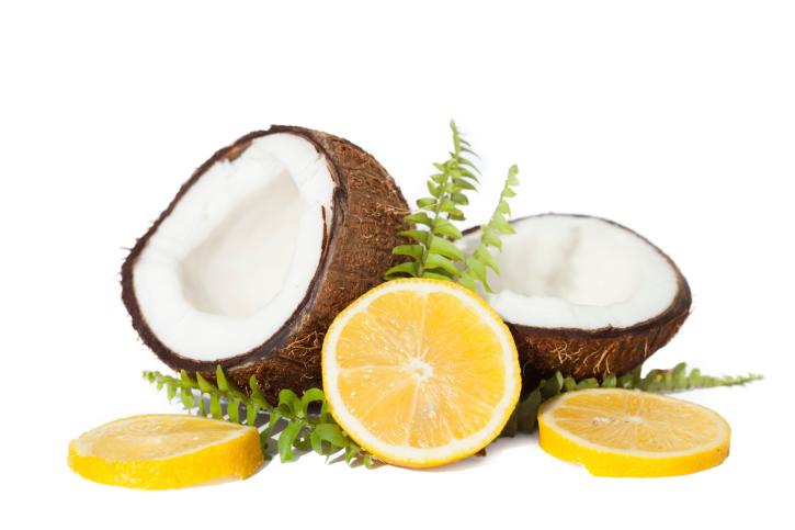 lemon and coconut