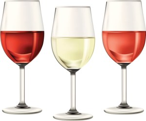glasses of a variety of wines
