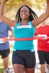 woman runner finish line