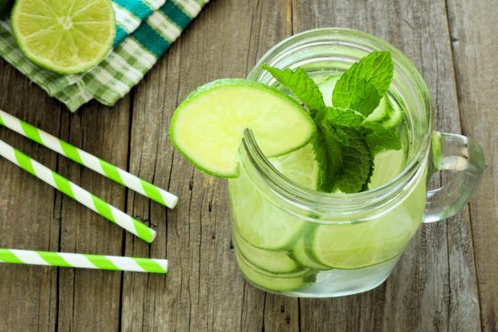 jar lime cucumber water