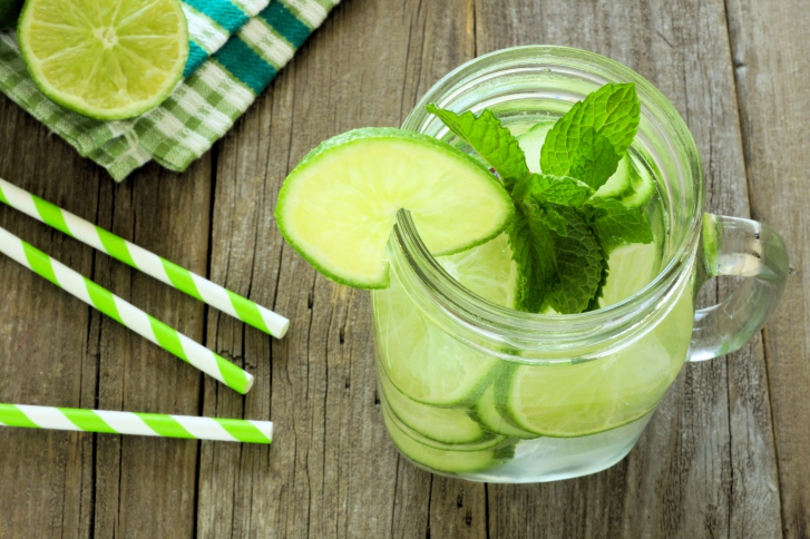 jar lime cucumber water