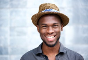 happy young man smiling