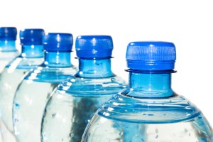 row of bottled water