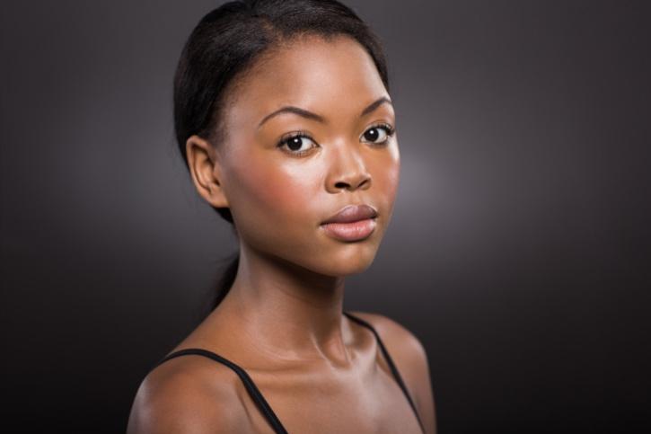 young woman face natural makeup