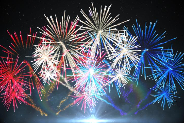 red white blue fireworks