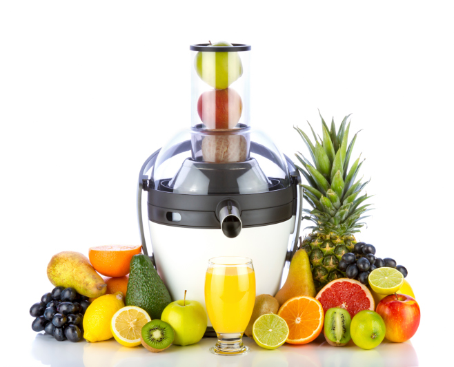Fruits with juicer