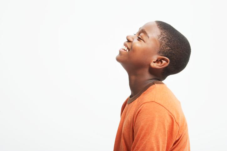 teen boy smiling