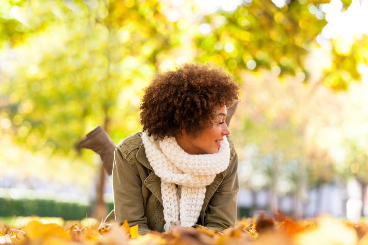 woman outside autumn