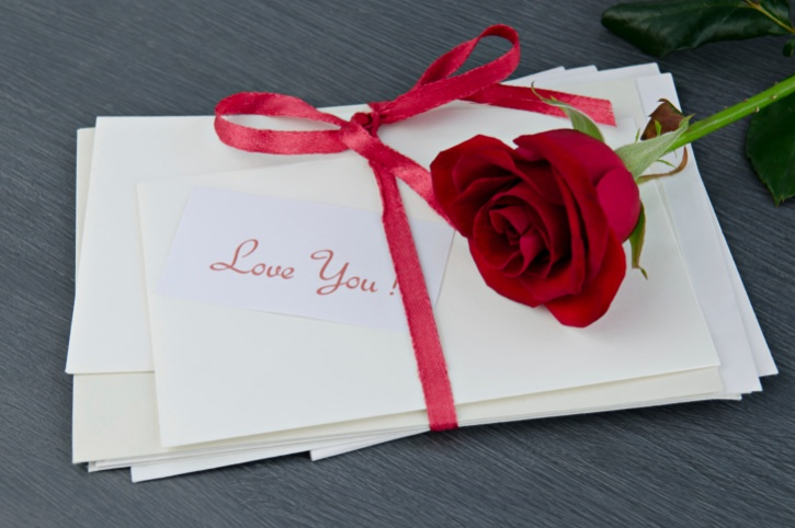 love letters with rose