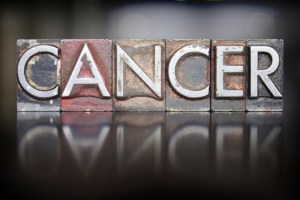 cancer in block letters