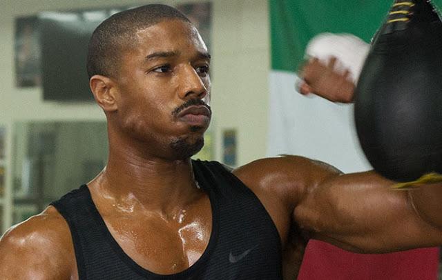 Michael B Jordan sweaty