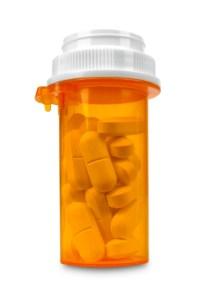 prescription bottle of pills