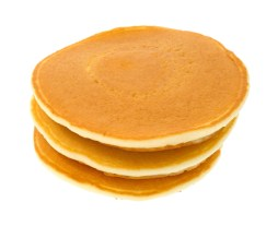 Stack of plain pancakes