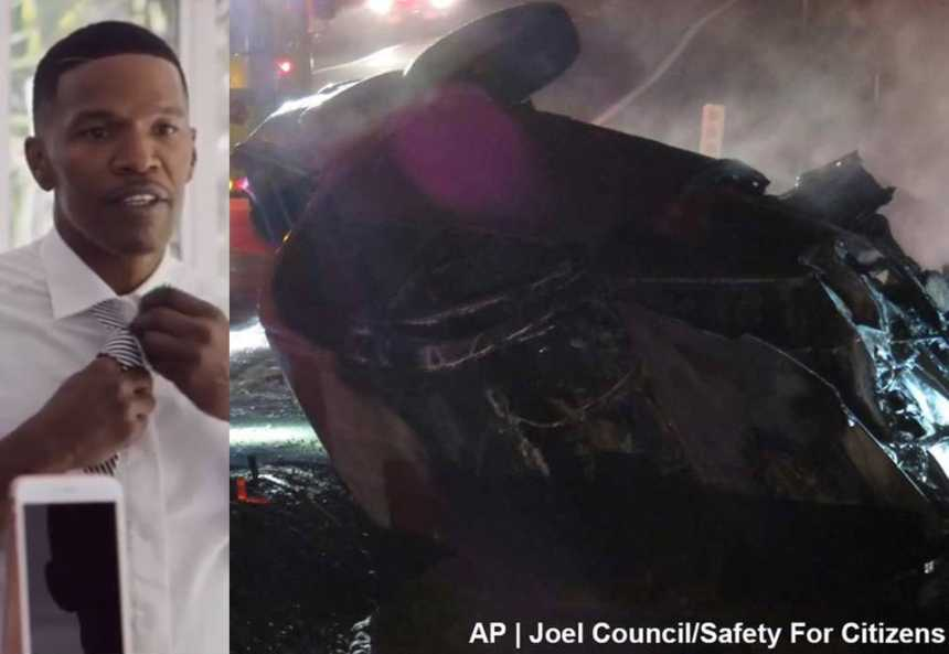jamie foxx car crash title