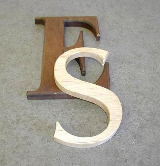 Interior Dimensional Letters