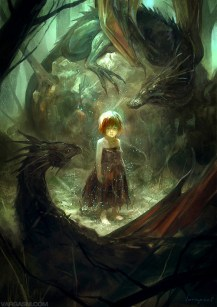 child and dragons