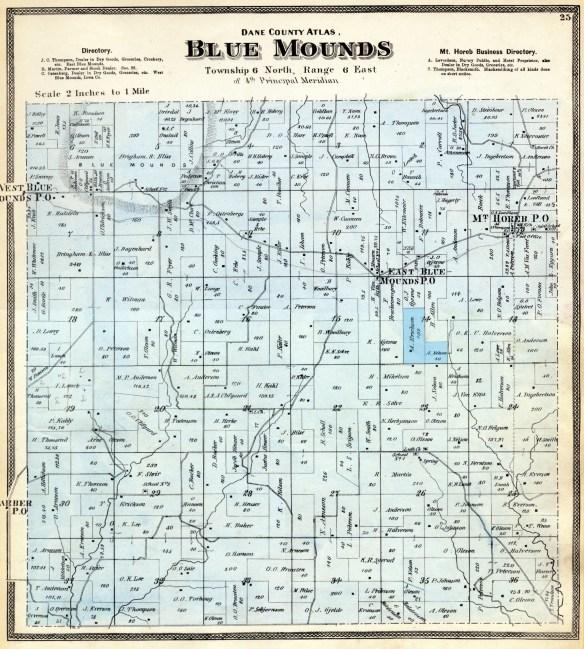 Blue Mounds plat 1873