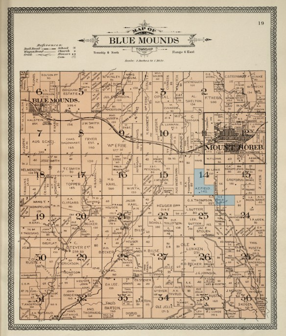Blue Mounds plat 1911