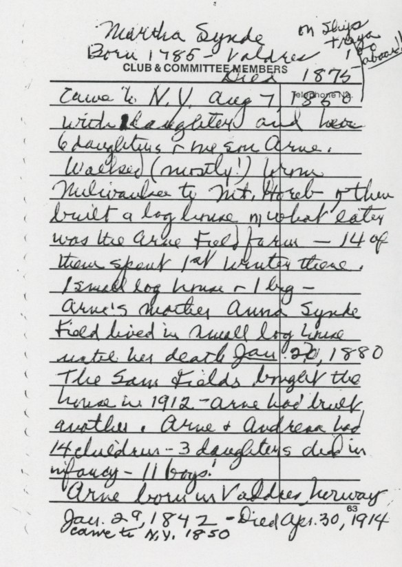 anonymous note, page 1