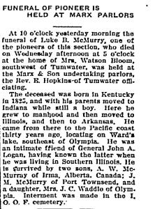 Luke McMurry obituary 1913-05-04