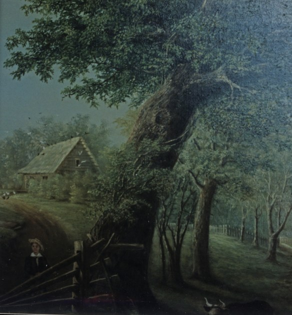 Detail of barn and tree