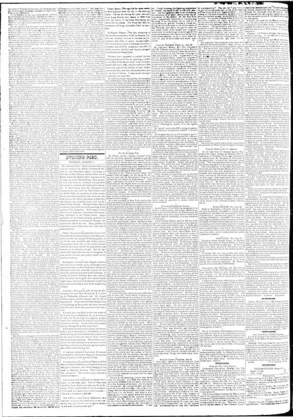 New York Post, 1 Aug 1826 page 2 (1)