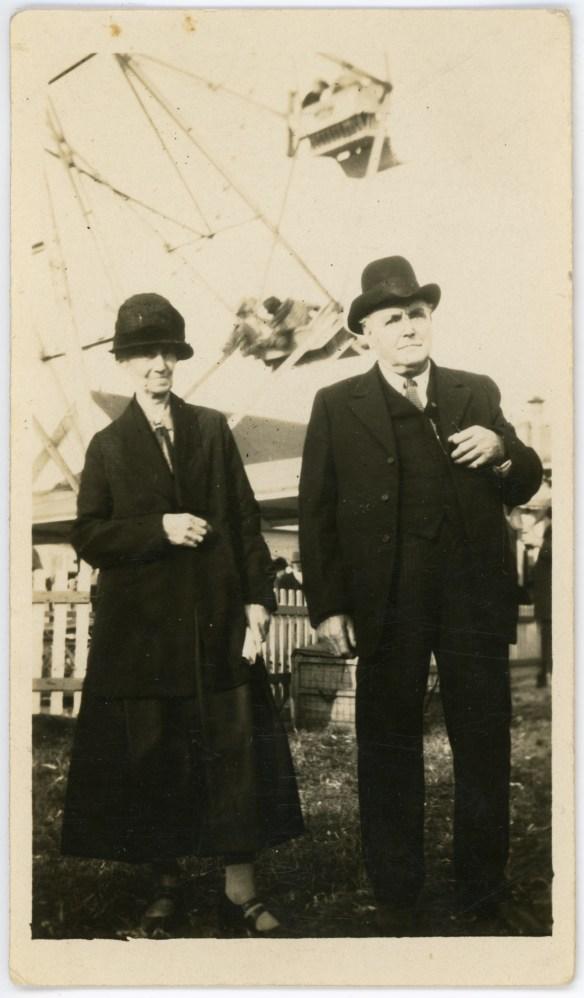 1927- Chester and Hattie Eddy at 1927 fair