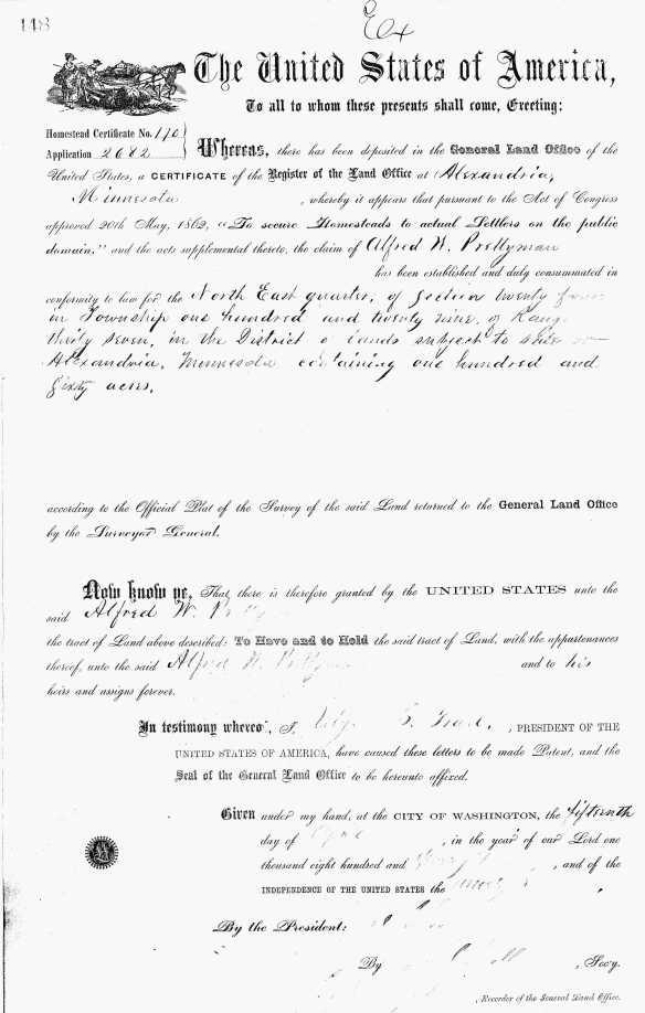 Alfred W Prettyman Apr 15 1873
