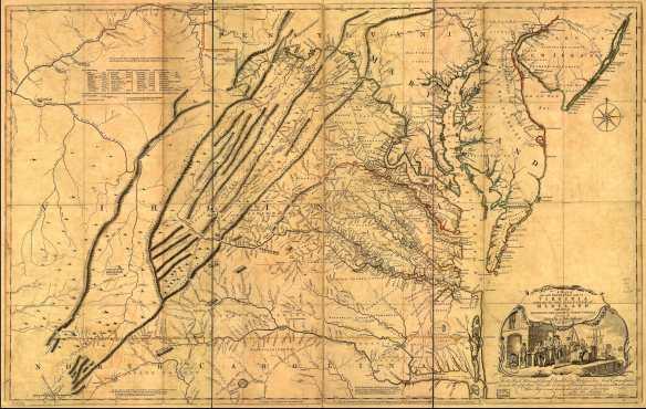 Fry-Jefferson VA MD map 1751