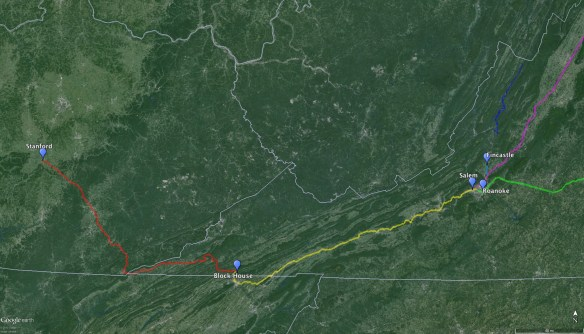 Route overview VA to KY