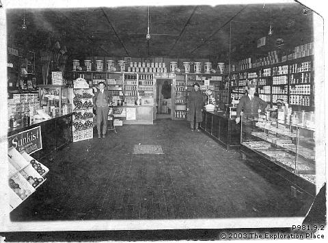 Interior of Hoods grocery