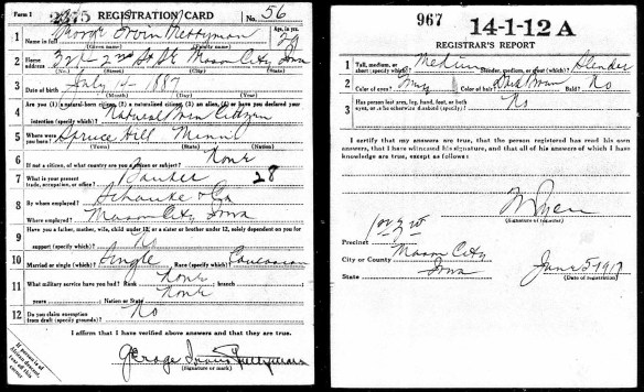 1917-06-05 draft registration card