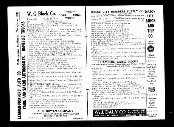 1919 G Irwin Prettyman directory